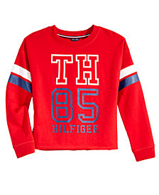 Tommy Hilfiger Little Girls Logo Graphic Sweatshirt