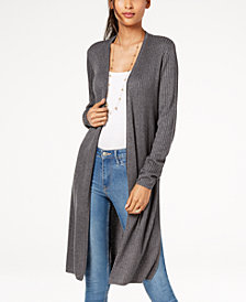 I.N.C. Petite Ribbed Open-Front Duster Cardigan, Created for Macy's