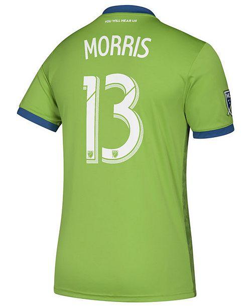 a74f7c2f2 ... adidas Men s Jordan Morris Seattle Sounders FC Primary Replica Player  Jersey ...