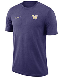 Nike Men's Washington Huskies Dri-Fit Coaches T-Shirt