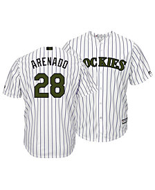 Majestic Men's Nolan Arenado Colorado Rockies USMC Cool Base Jersey