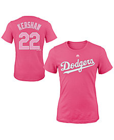 Majestic Clayton Kershaw Los Angeles Dodgers Player T-Shirt, Girls (4-16)