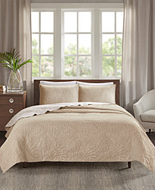 Madison Park Grand Isle Reversible 3-Pc. Quilted King/California King Coverlet Set