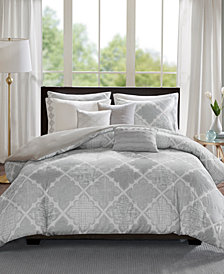 Madison Park Cadence Cotton 8-Pc. King/California King Duvet Cover Set