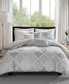 Madison Park Cadence Cotton 8-Pc. Full/Queen Duvet Cover Set