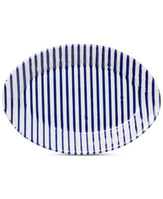 Net & Stripe Stripe Small Oval Platter