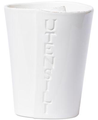 Lastra Collection White Utensil Holder