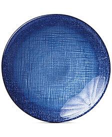 VIETRI Glitter Glass Cobalt Canapé Plate