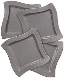 New Wave Stone Set of 4 Salad Plates
