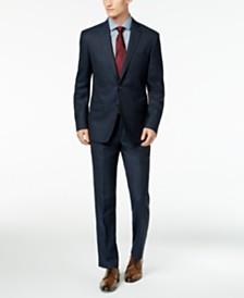 DKNY Men's Slim-Fit Blue/Tan Windowpane Suit Separates