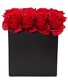 Rose Artificial Arrangement in Black Vase