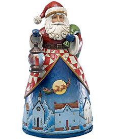 Jim Shore Santa Up Over the Village Collectible Figurine
