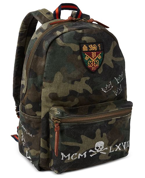 b0c05a25fb Polo Ralph Lauren Men s Camo Canvas Backpack   Reviews - All ...