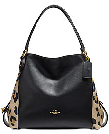 COACH Leopard Edie 31 Shoulder Bag