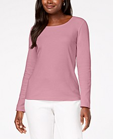 Cotton Scoop-Neck Top, Created for Macy's
