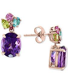 EFFY® Multi-Gemstone Drop Earrings (6 ct. t.w.) in 14k Rose Gold