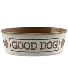TarHong Good Dog Beige Medium Pet Bowl