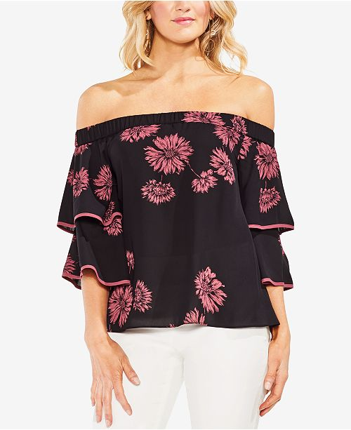 5832c63e4ea978 Vince Camuto Off-The-Shoulder Tiered-Sleeve Top - Tops - Women - Macy s