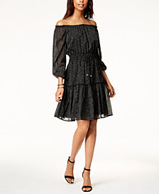 Tommy Hilfiger Off-The-Shoulder Dress, Created for Macy's