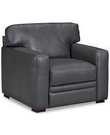 """Avenell 39"""" Leather Armchair, Created for Macy's"""