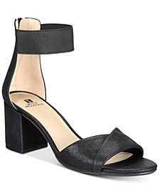 White Mountain Ever Two-Piece Block-Heel Sandals, Created for Macy's
