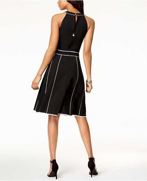 Tommy Hilfiger Piped Fit Amp Flare Dress Created For Macy S