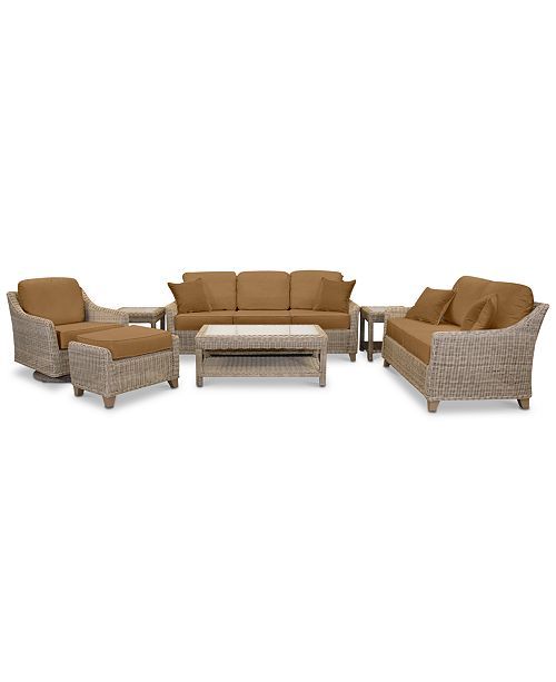 Fantastic Willough Outdoor 7 Pc Set 1 Sofa 1 Loveseat 1 Swivel Glider 1 Coffee Table 2 End Tables 1 Ottoman Created For Macys Pabps2019 Chair Design Images Pabps2019Com