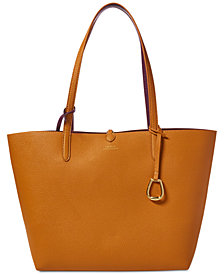 Lauren Ralph Merrimack Reversible Leather Tote