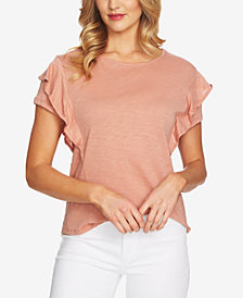 CeCe Tiered Ruffle Sleeve Top