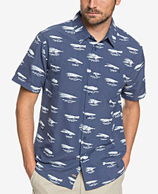 Quiksilver Men's Waterman Wake Lures Printed Performance Shirt