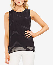 Vince Camuto Sleeveless Illusion Top
