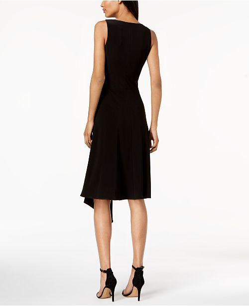 Scoop Neck Black Dress Asymmetrical Anne Klein TqxCBB