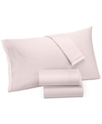 Cotton Sateen 230-Thread Count 4-Pc. Fringe California King Sheet Set, Created for Macy's