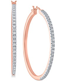 Diamond Hoop Earrings in Sterling Silver (1/4 ct. t.w.)