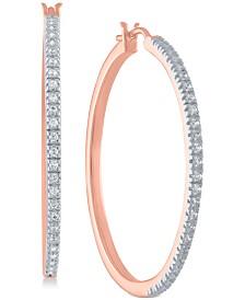 Diamond Hoop Earrings in Sterling Silver (1/4 ct. t.w.)