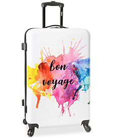 "Wembley Live It Up Bon Voyage 28"" Hardside Spinner Suitcase"