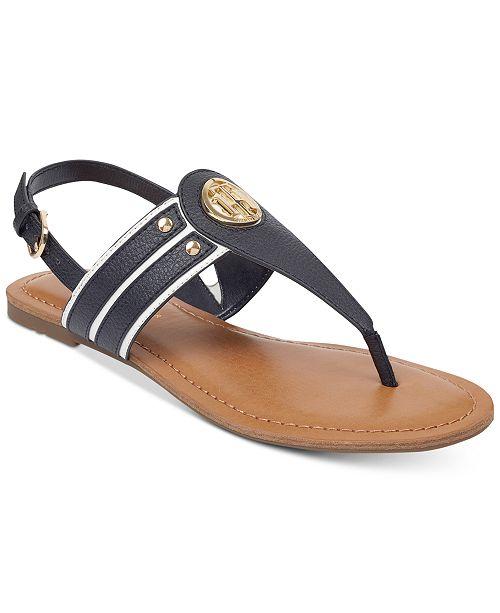 Tommy Hilfiger Lavas Slingback Thong Sandals Women's Shoes TfFAd9TN