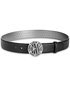 DKNY Subway Token Logo-Buckle Belt, Created for Macy's
