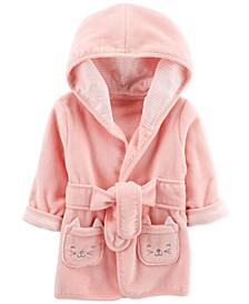 Baby Girls Kitten Cotton Bathrobe 0-9M