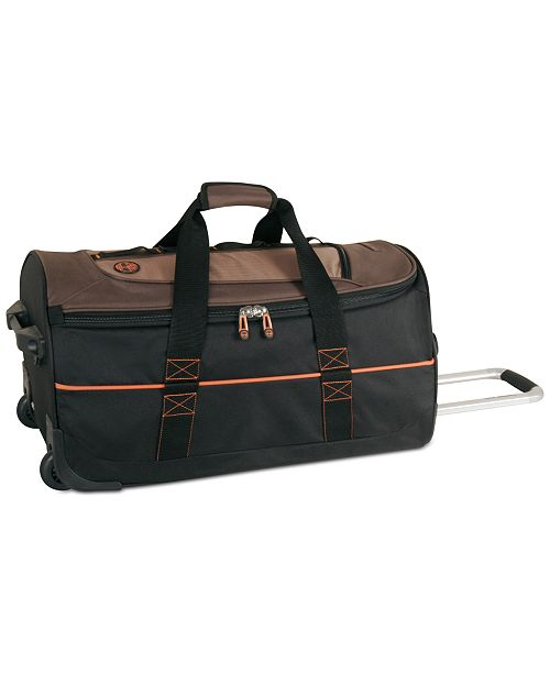 "Timberland Jay Peak Cocoa 24"" Wheeled Duffel Bag"