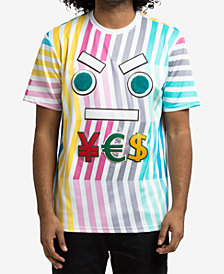 Hudson NYC Men's Striped Graphic T-Shirt