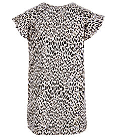 Love, Fire Big Girls Leopard-Print Sweatshirt Dress