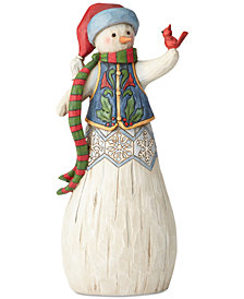 Jim Shore Folklore Snowman with Cardinal Figurine
