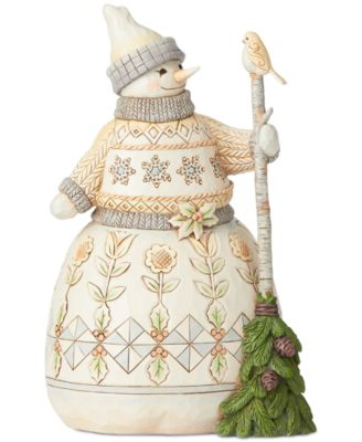 Jim Shore Woodland Snowman with Broom