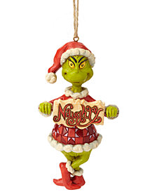 Jim Shore Grinch with Naughty/Nice Sign Ornament