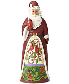 Jim Shore Santa with Cardinal Figurine
