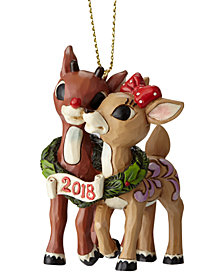 Jim Shore Rudolph & Clarice Dated 2018 Ornament
