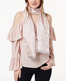 Calvin Klein Silk Snakeskin-Print Scarf