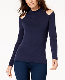 MICHAEL Michael Kors Cold-Shoulder Sweater