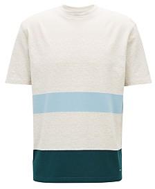 BOSS Men's Striped Cotton T-Shirt